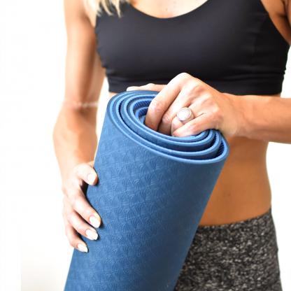 eco yogamat blauw mood