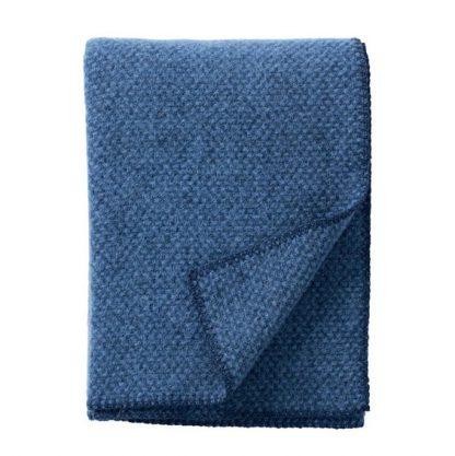 Klippan plaid domino blauw