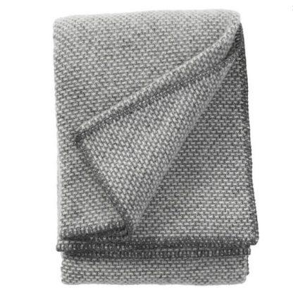 Klippan plaid domino donker grijs
