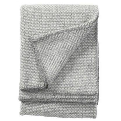 Klippan plaid domino licht grijs
