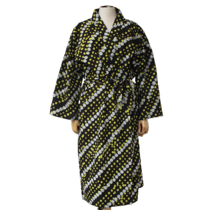 Kimono Batik zwart/ geel
