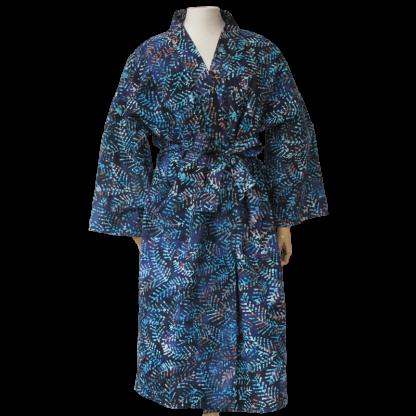 Kimono Batik blue forest