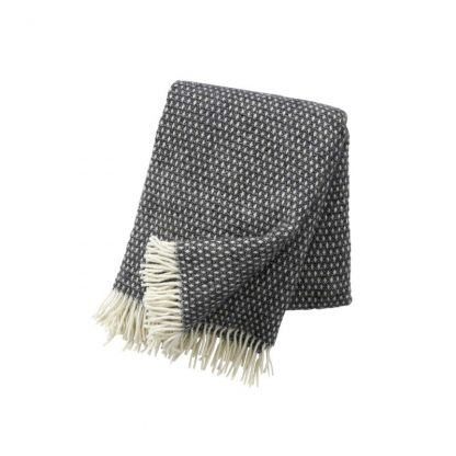 klippan plaid Knut dark grey