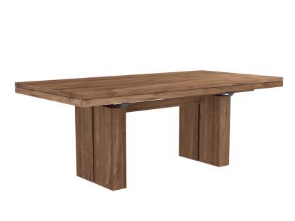 12066 Double extendable dining table - Teak (2)