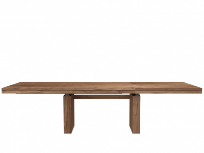 12066 Double extendable dining table - Teak (3)