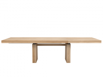 Double extendable dining table - Oak