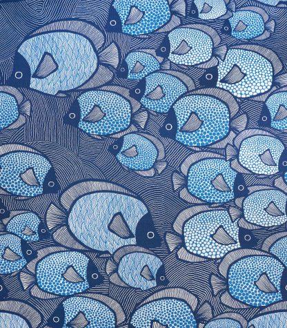 Gyllstad fabric-fiskar-denimblue