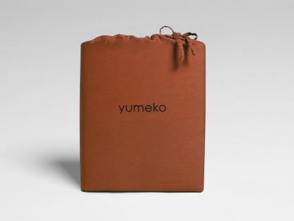 Yumeko dbo gewassen katoen satijn bronze