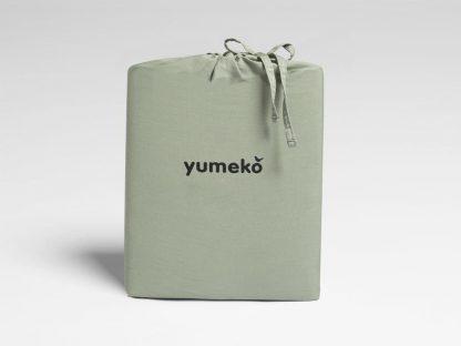 Yumeko dbo gewassen katoen satijn green 2