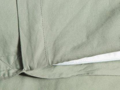 Yumeko dbo gewassen katoen satijn green detail
