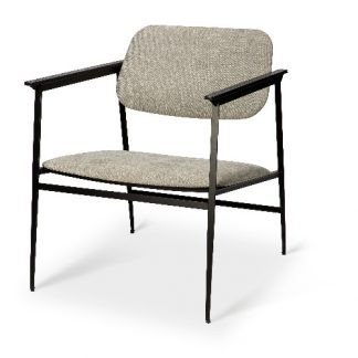 Ethnicraft 60085 DC lounge chair - with armrest - light grey 60x66x74