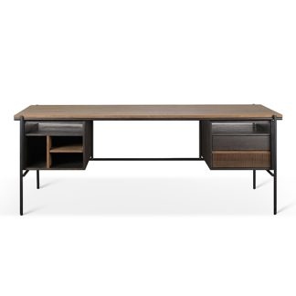 10141 Teak Oscar desk - 2 drawers