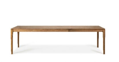 10152 Teak Bok extendable dining table