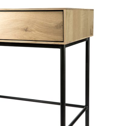 51478 Oak Blackbird desk - 2 drawers_det 2