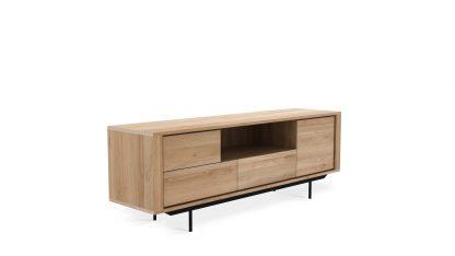51315 Oak Shadow TV cupboard - 1 opening door - 1 door - 2 drawers - black metal legs 180x45x63_p