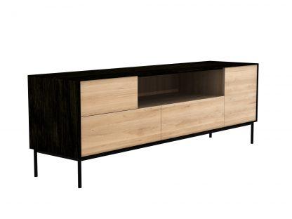 51473 Oak Blackbird TV cupboard - 1 opening door 1 flip down door 2 drawers_p