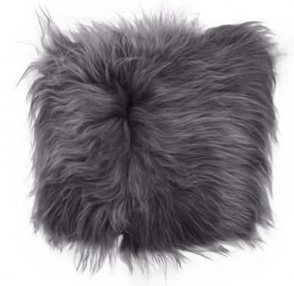 ijslands schapenvacht chair pad grijs