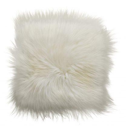 ijslands schapenvacht chair pad wit