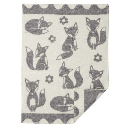 klippan wiegdeken fox grey